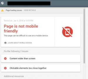Google Mobile Friendly Test failure requires a major upgrade for your website.