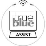 Logo for True Blue Assist a computer repair company located in Battle Ground Washington and a client of Vancouver WA SEO